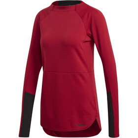 adidas TERREX Climb The City Sweat-shirt manches longues à col ras-du-cou Femme, active maroon